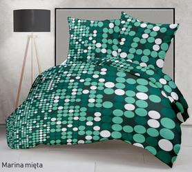 Pościel 160x200cm 2x70x80cm, 140g/m2,100% bawełna  Marina mięta