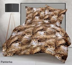 Pościel z kory 160x200cm + 2szt. 70x80cm - SILVER Panterka