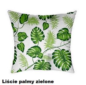 Poszewka na poduszkę jasiek 40x40cm, 100% Bawełna Palmy zielone