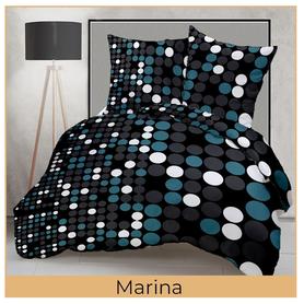 Pościel 140x200cm, 70x80cm, 140g/m2, bawełna 100% Marina