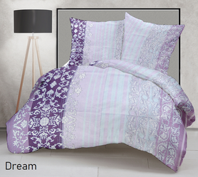 Pościel 160x200cm 2x70x80cm, 140g/m2,100% bawełna  Dream