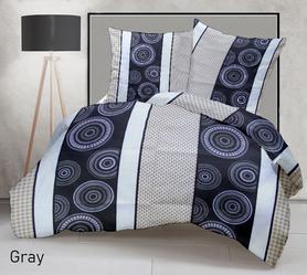 Pościel 160x200cm 2x70x80cm, 140g/m2,100% bawełna  Gray