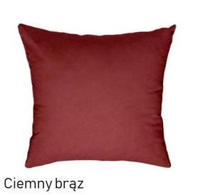 Poszewka na poduszkę 40x40cm, jasiek, bawełna 100% Brąz ciemny