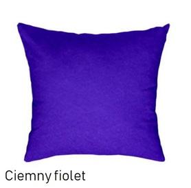 Poszewka na poduszkę 40x40cm, jasiek, bawełna 100% Ciemny fiolet