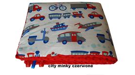 KOCYK KOŁDERKA MINKY 75x100cm dwustronny ocieplany City Minky Czerwone