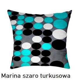 Poszewka na poduszkę jasiek 40x40cm, 100% Bawełna Marina szaro turkusowa