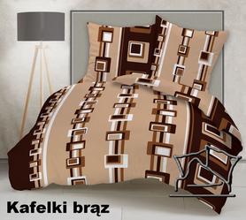 Pościel z kory 140x200cm + 1szt. 70x80cm - SILVER Kafle brąz