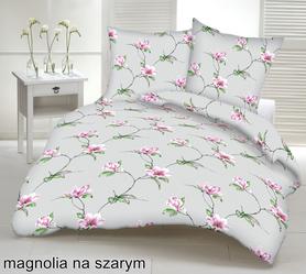 Pościel z kory 140x200cm + 1szt. 70x80cm -PRESTIGE Magnolia szara