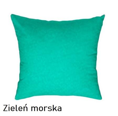 Poszewka na poduszkę 40x40cm, jasiek, bawełna 100% Zieleń morska 5317