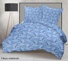 Pościel z kory 140x200cm + 1szt. 70x80cm -PRESTIGE Fikus niebieski (1)